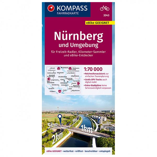 Kompass - Fahrradkarte Nürnberg Und Umgebung - Radkarte