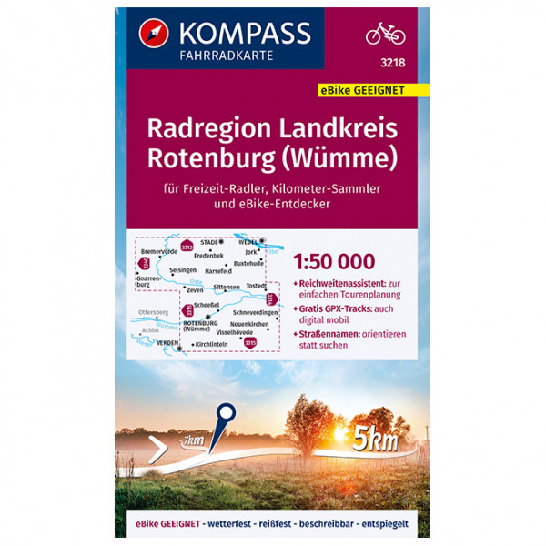 Fahrradkarte Radregion Landkreis Rotenburg (Wmme) - Cycling map