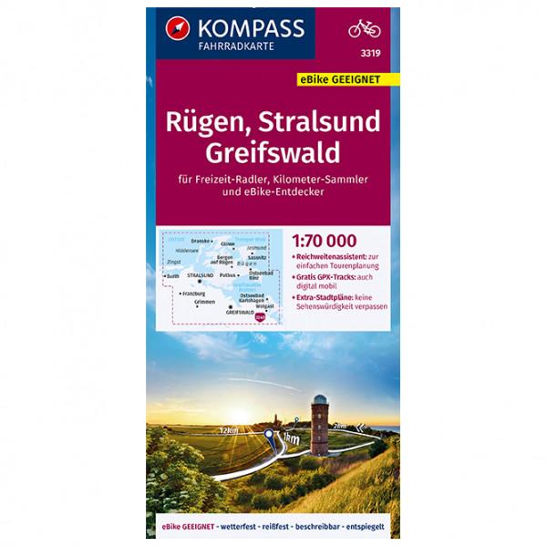 Kompass - Fahrradkarte Rügen, Stralsund, Greifswald - Carte de cyclisme