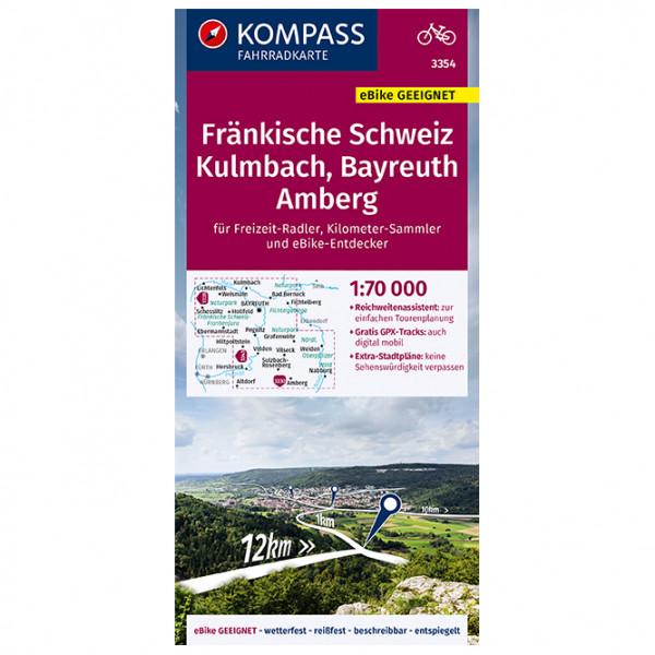 Kompass - Fränkische Schweiz, Kulmbach, Bayreuth, Amberg - Radkarte