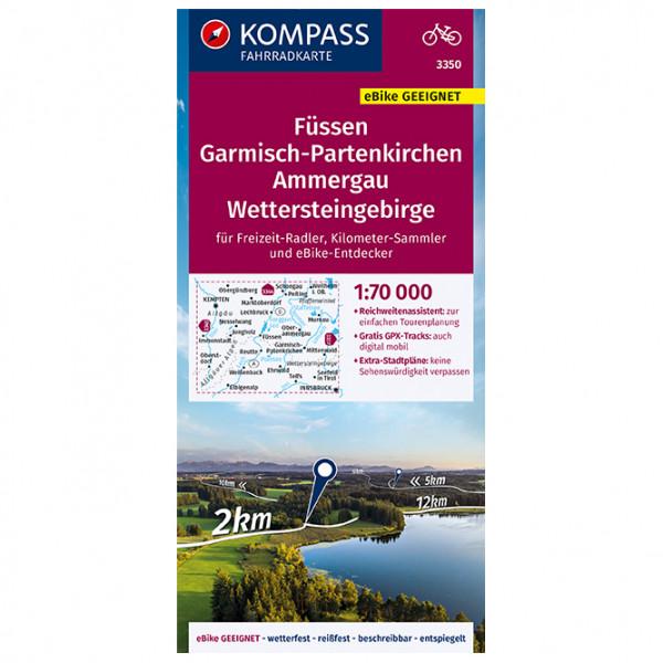 Fssen, GAP., Ammergau, Wettersteingebirge - Cycling map