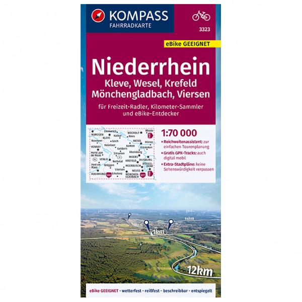 Kompass - Ndrh.,Kleve,Wesel,Krefeld,Mönchengladbach,Viersen - Cycling map
