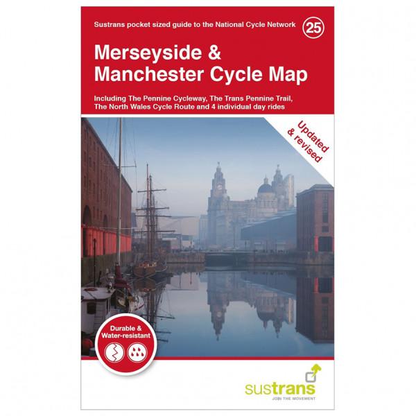 Sustrans - Merseyside & Manchester Cycle Map - Radkarte