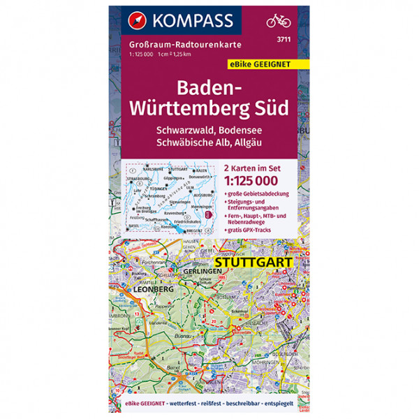 Baden-Wrttemberg Sd - Cycling map
