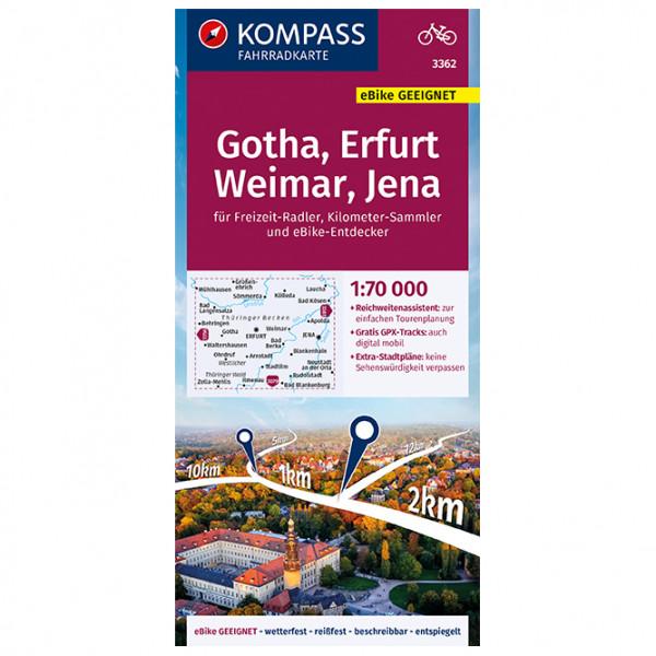 Kompass - Gotha, Erfurt, Weimar, Jena - Radkarte