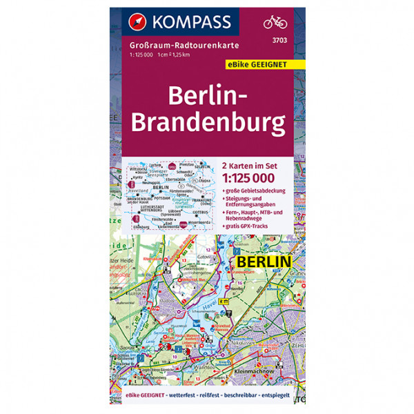 Kompass - Berlin, Brandenburg - Radkarte