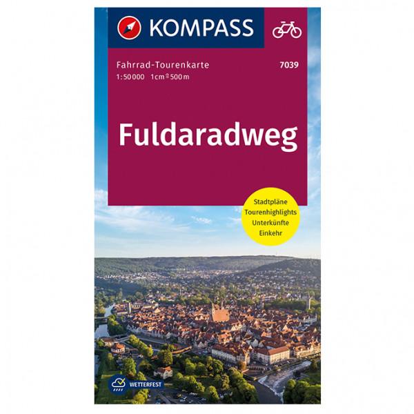 Fuldaradweg - Cycling map
