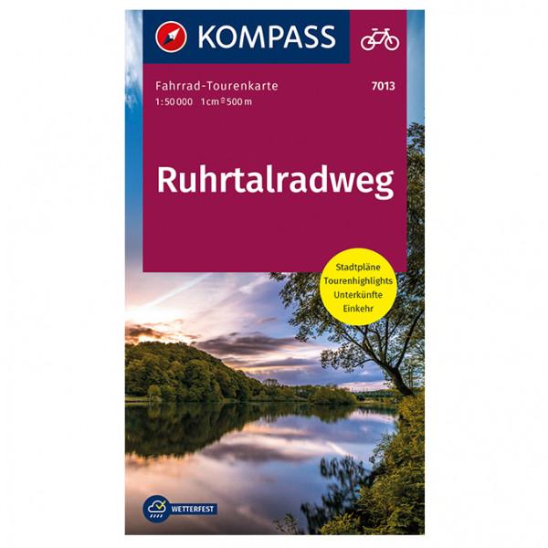 Kompass Ruhrtalradweg - Cykelguides køb online | cycle map