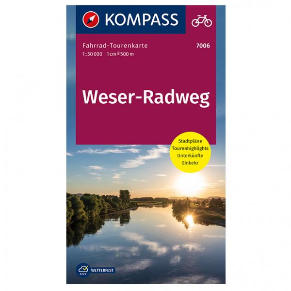 Weserradweg - Cycling map