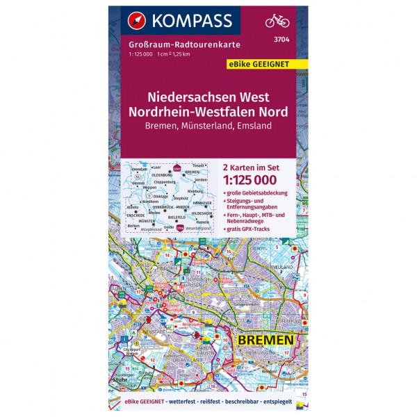 Kompass - Niedersachsen West, Nordrhein-Westfalen Nord - Radkarte