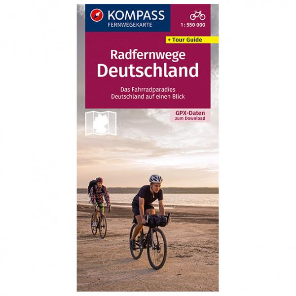 Radfernwege Deutschland - Cycling map