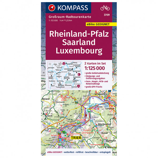 Rheinland-Pfalz - Saarland - Luxembourg - Cycling map