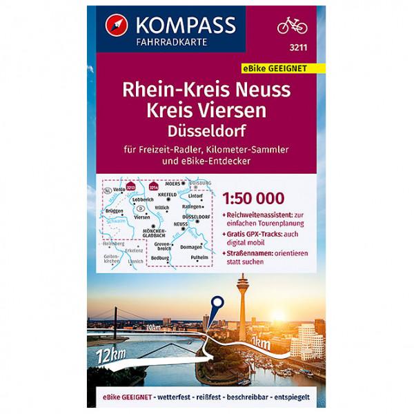 Fahrradkarte Rheinkreis Neuss, Kreis Viersen - Cycling map