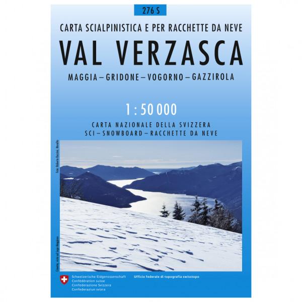 Swisstopo -  276 S Val Verzasca - Skitourgidsen