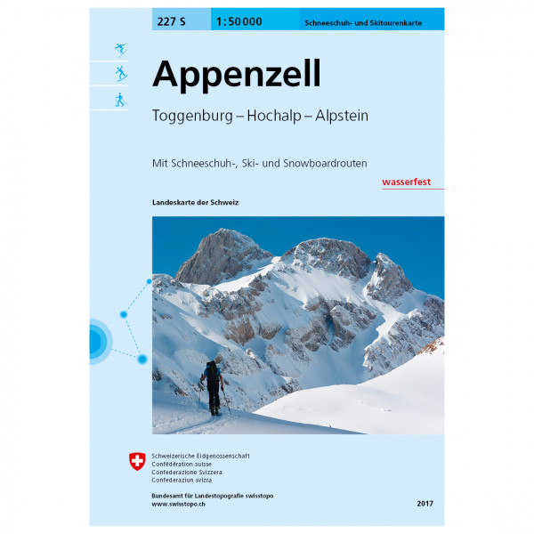 Swisstopo - 227 S Appenzell - Ski tour guide