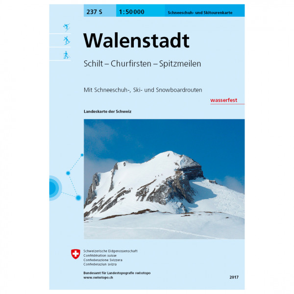 Swisstopo - 237 S Walenstadt - Guide randonnée à skis