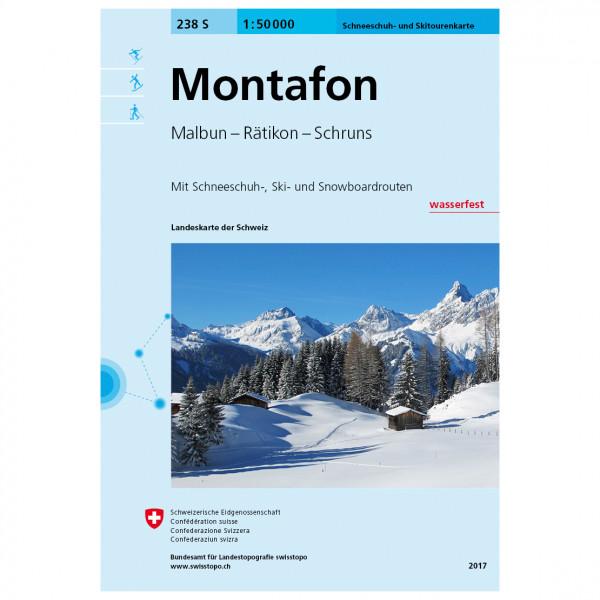 Swisstopo - 238 S Montafon - Ski- og snøskoturer