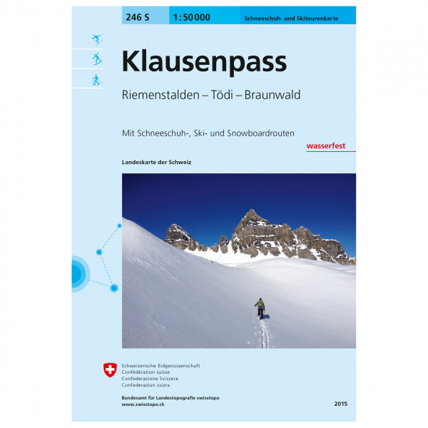 Swisstopo - 246 S Klausenpass - Skitourgidsen