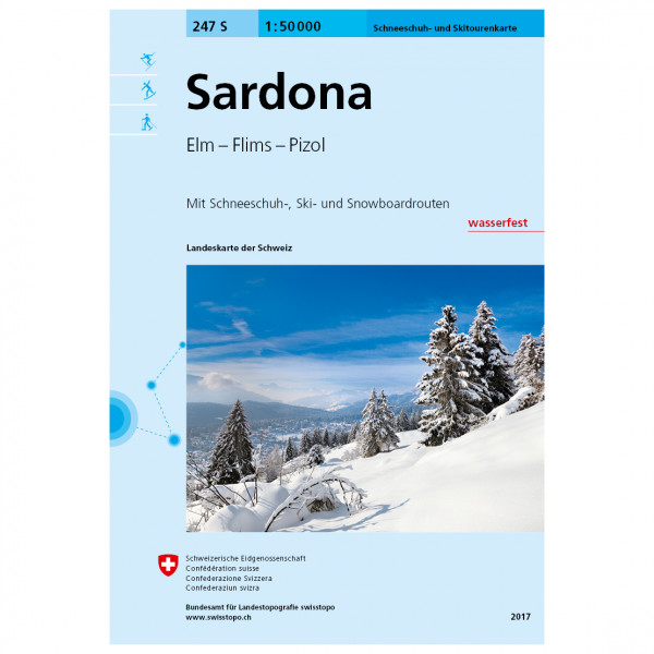 Swisstopo - 247 S Sardona - Skitourenführer