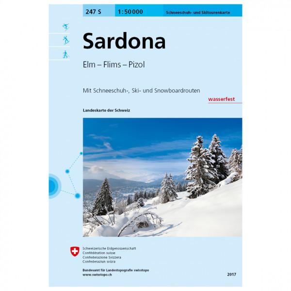 Swisstopo - 247 S Sardona - Skiturguides