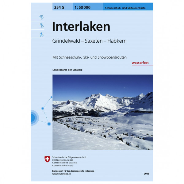 Swisstopo - 254 S Interlaken - Skitourgidsen