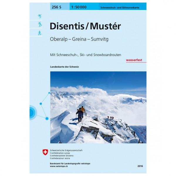 Swisstopo - 256 S Disentis/Mustér - Ski- og snøskoturer