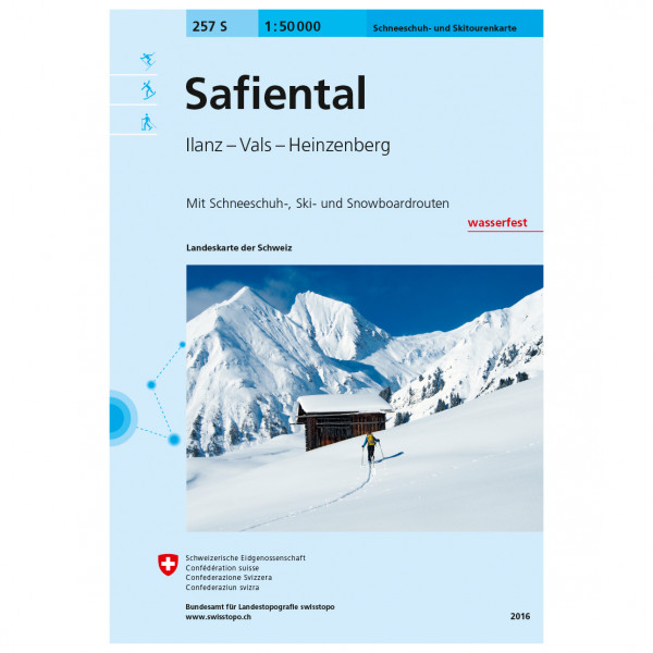 Swisstopo - 257 S Safiental - Skiturguides