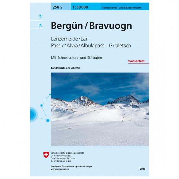 Swisstopo - 258 S Bergün/Bravuogn - Lasketteluretkioppaat
