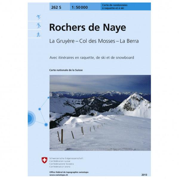 Swisstopo - 262 S Rochers de Naye - Ski tour guide