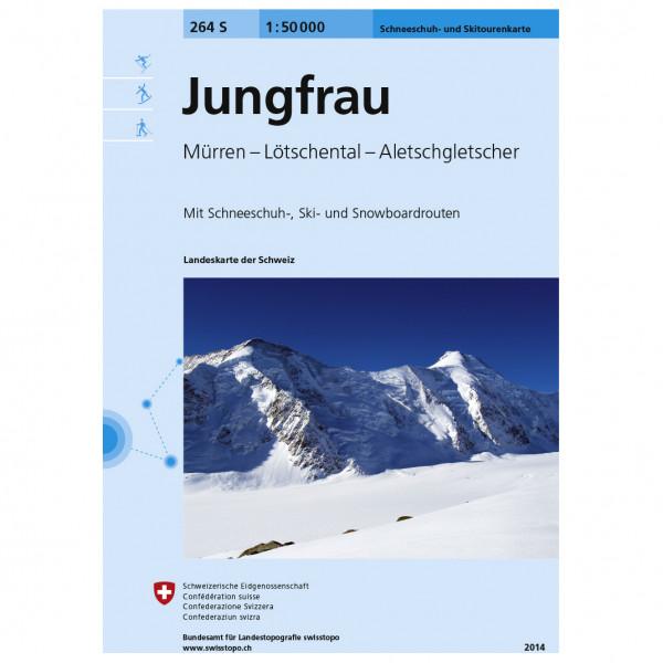 Swisstopo - 264 S Jungfrau - Skidtursguider