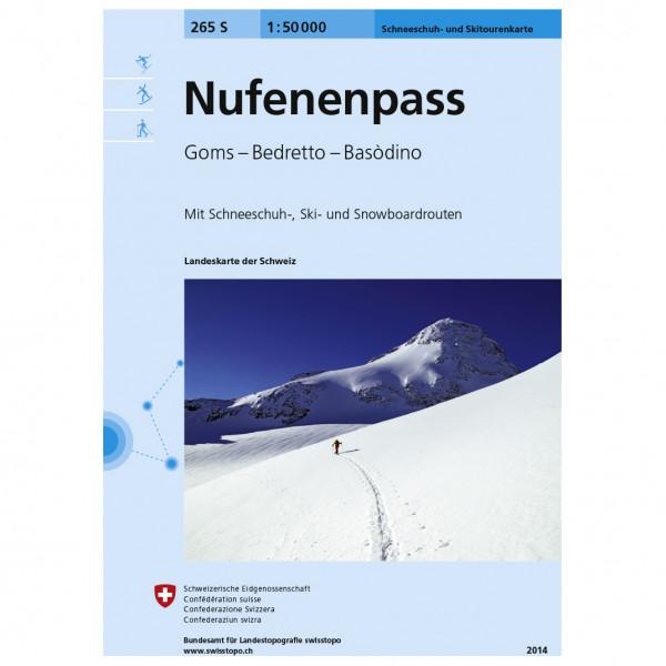 Swisstopo - 265 S Nufenenpass - Lasketteluretkioppaat