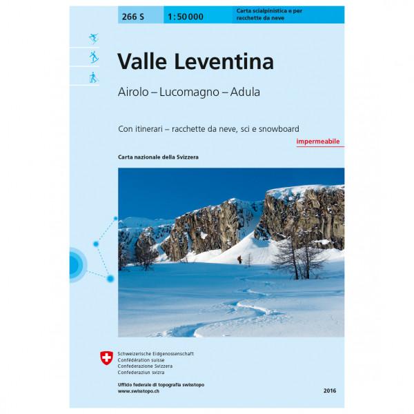 Swisstopo - 266 S Valle Leventina - Skitourgidsen