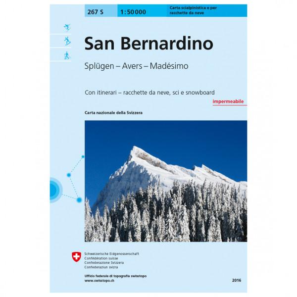 Swisstopo - 267S San Bernardino - Skitourgidsen