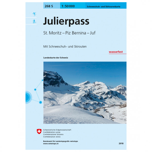 Swisstopo - 268 S Julierpass - Skiturguides