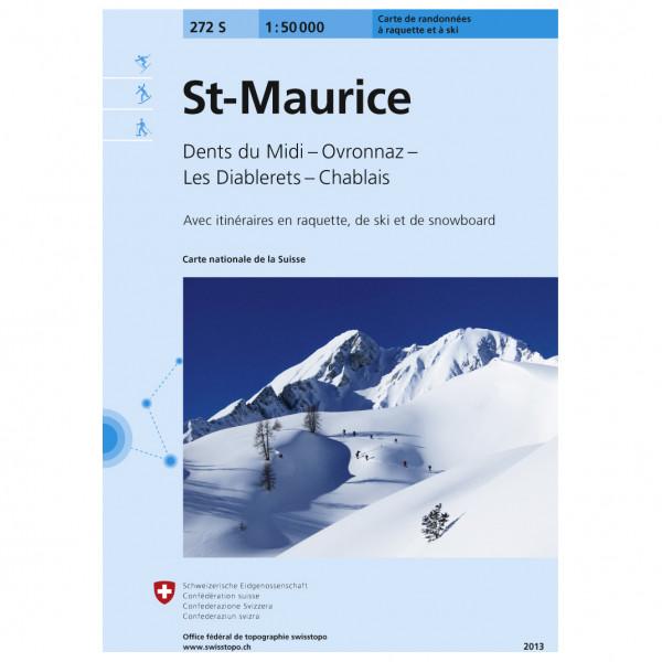 Swisstopo - 272S St-Maurice - Lasketteluretkioppaat