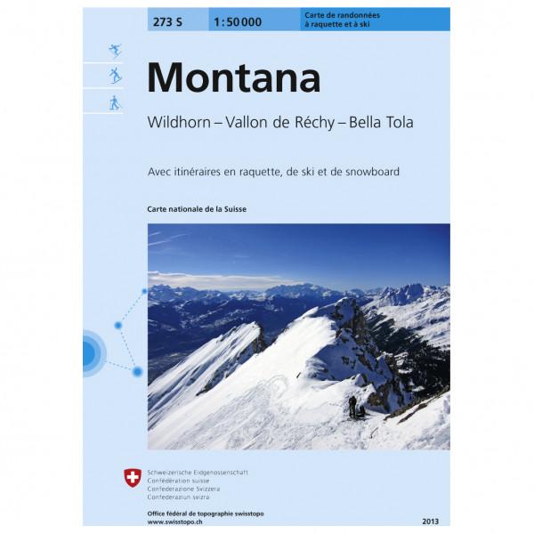 Swisstopo - 273 S Montana - Skidtursguider