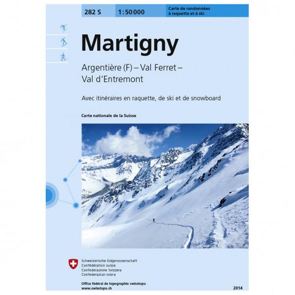 Swisstopo - 282 S Martigny - Skitourgidsen