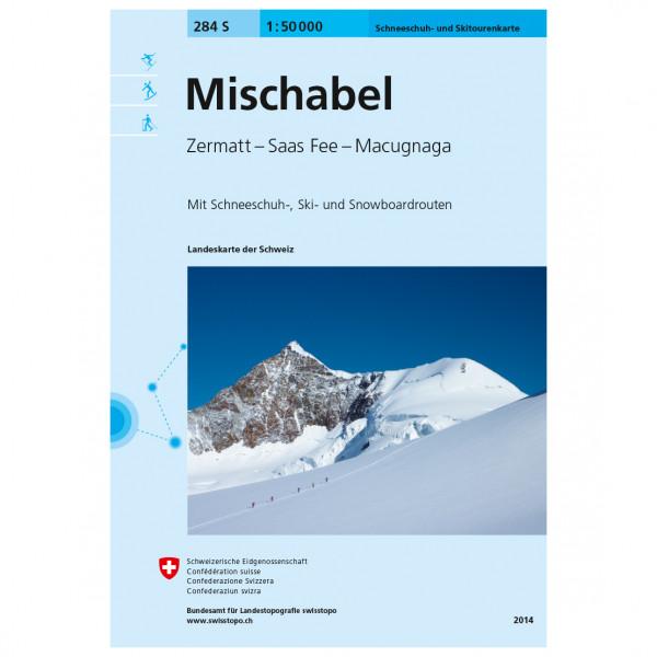 Swisstopo - 284 S Mischabel - Skidtursguider