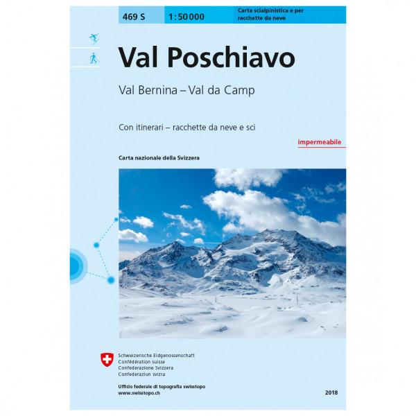 Swisstopo - 469 S Val Poschiavo - Ski- og snøskoturer