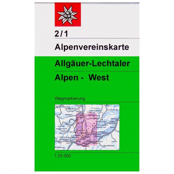 DAV - Allgäuer-Lechtaler Alpen, westliches Blatt 2/1 - Carte de randonnée