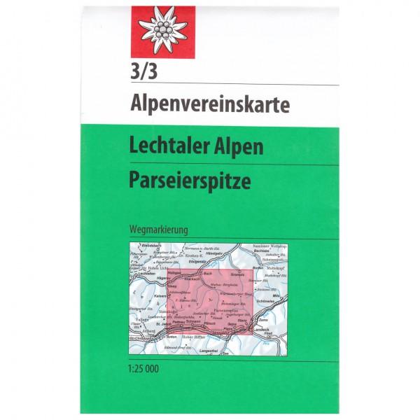 DAV - Lechtaler Alpen, Parseierspitze 3/3 - Vandringskartor