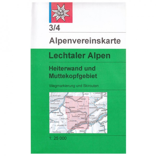 DAV - Lechtaler Alpen, Heiterwand und Muttekopfgebiet 3/ - Hiking map