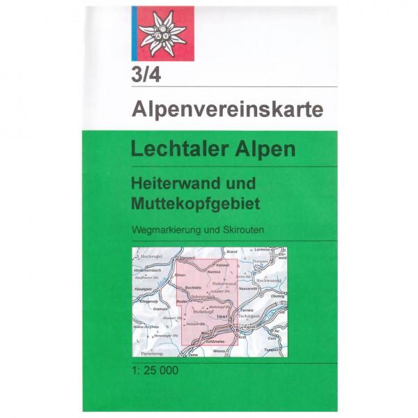 DAV - Lechtaler Alpen, Heiterwand und Muttekopfgebiet 3/ - Vaelluskartat