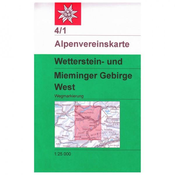 DAV - Wetterstein und Mieminger Gebirge westliches Blatt