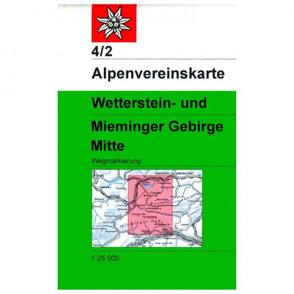 DAV - Wetterstein und Mieminger Gebirge, mittleres Blatt - Hiking map