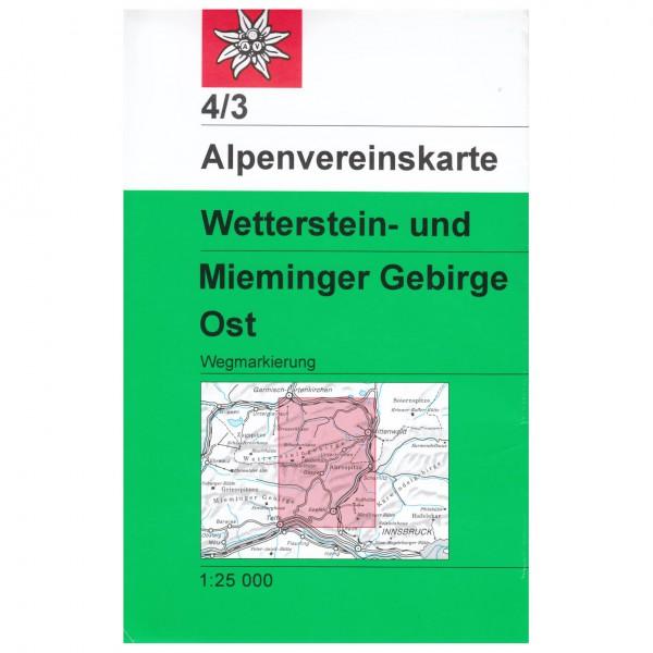 DAV - Wetterstein und Mieminger Gebirge, Ost 4/3 - Carte de randonnée