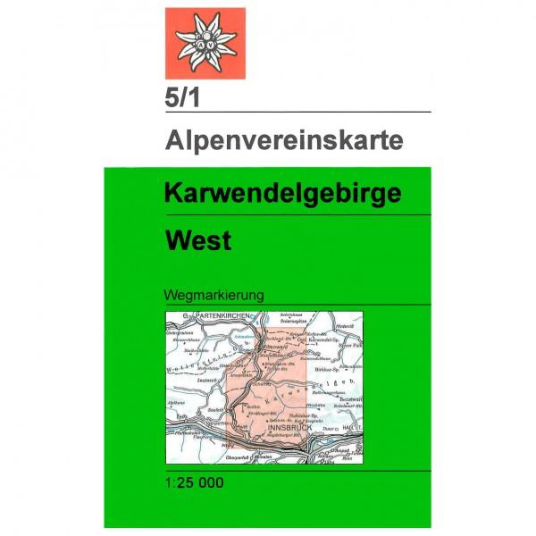 DAV - Karwendelgebirge, westliches Blatt 5/1 - Vaelluskartat