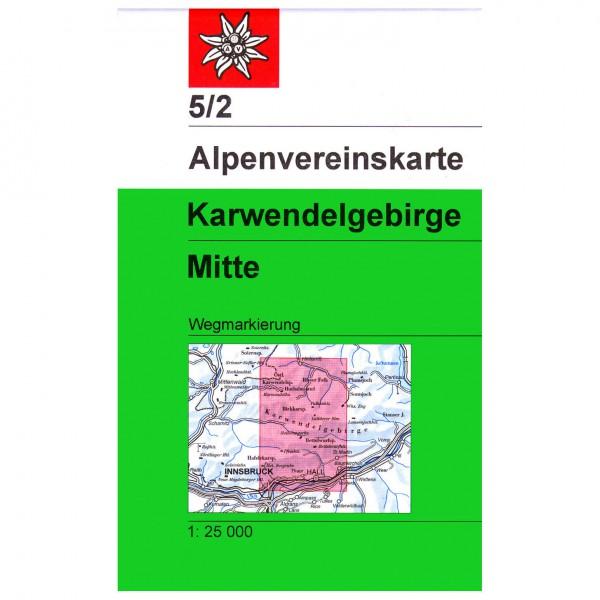 DAV - Karwendelgebirge, mittleres Blatt 5/2 - Wandelkaarten