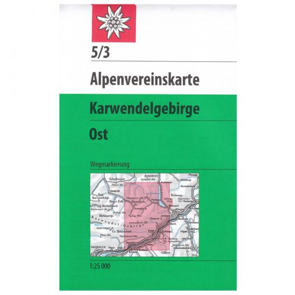 DAV - Karwendelgebirge, östliches Blatt 5/3 - Wandelkaart
