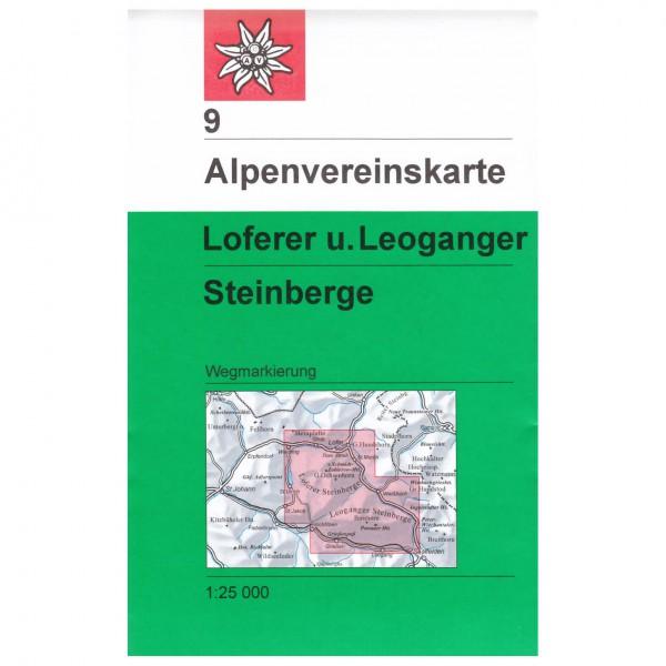 DAV - Loferer und Leoganger Steinberge 9 - Vandringskartor